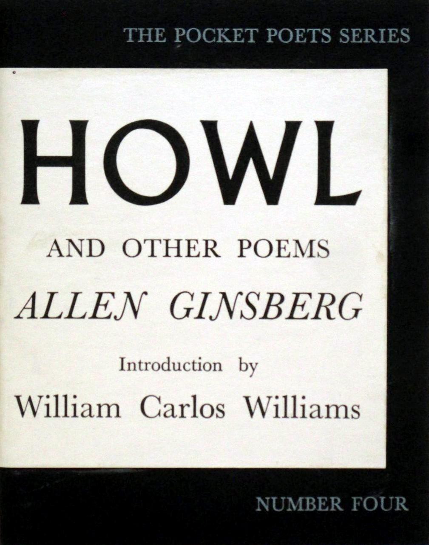 Original cover of Allen Ginsberg's books, HOWL