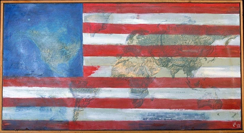 """""""Unfinished Flag of the United States"""" Lawrence Ferlinghetti"""