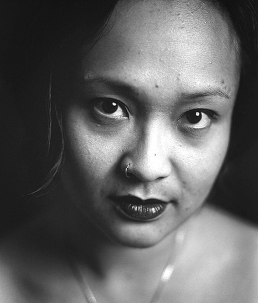 black and white close up image of author barbara jane reyes